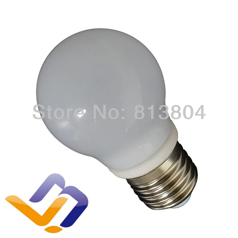 New Products! 85-265V E26/E27 3W COB Ceramic LED bulb lamp Glass lights warm/cold white R45(China (Mainland))