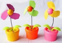 volume sales Flower basket soft flower usb fan with light battery usb two-site portable mini fan