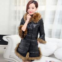 Women Gorgeous Black Genuine Real Sheep Skin Fur Coat Free Shipping wbss1986