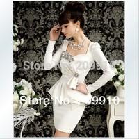 High Quality !  Hot Sale Evening dresses  Party dress Women 2014 Slim one-piece dress twinset