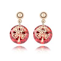 Korean Fashion Flash Drilling  Zircon Drop Earrings Clover Accessories For Women  18K Gold Filled  Trendy  Designer  Jewelry