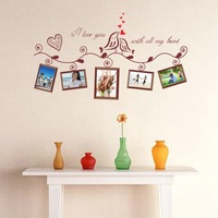 High qualiyt 90cm*50cm Wall stickers photo wall  eco-friendly multicolour photo frame decorative painting