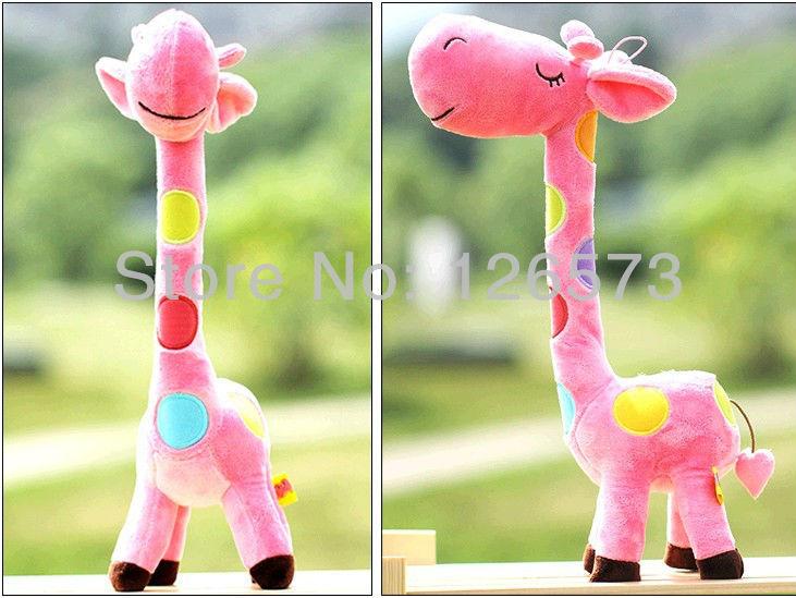 55cm pink giraffe valentine gifts cute toys soft toys kawaii toys plush doll plush toys one piece free shipping(China (Mainland))