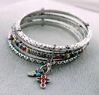 Sakura's Store B3253 fashion accessories vintage fashion cross pendant piece set bracelet jewelry