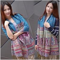 Classic Elegance Women's Scarves & Wraps Bohemia Print Cotton Scarf   Female  Wrap Shawl 200*70cm Free Shipping LZ-A20070