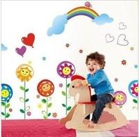High qulity 128cm*120cm The third generation wall stickers child cartoon smiley housing