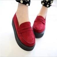 2013 HARAJUKU platform shoes vivi fashion flat shoes vintage women's single shoes