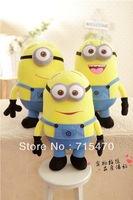 13''Despicable Me Dave Jorge Plush Minion Soft Toy Stuffed Cuddly 3D Teddy Doll