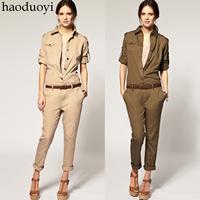 2014 new cotton frock jumpsuit Slim Trousers Siamese pants women Jumpsuit