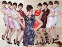 2014 New sleeveless mini chinese dress Chinese women's short design vintage chinese style cheongsam 5Size 8Color  JY012 - 6