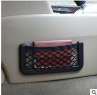 Retail Free 15X8cm Automotive Bag With Adhesive Visor Car Net Organizer Pockets Net Free Shipping storage Bag car organizer