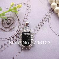 Jewelry Pendants Exquisite necklace Fake Zircon rectangle pendant 30PCS hotsale