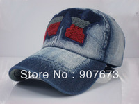 Free shipping Men's Accessories dome Fashion Jeans Baseball Cap Casual Outdoor Sun Hat T3B