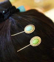 vintage colorful golden hair clips hairpins Accessories decor Lady girl's wholesale