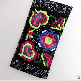 Embroidered Bag free shipping 2014 new ethnic Purses clutch purse wallet wallets floral craft queen C281(China (Mainland))