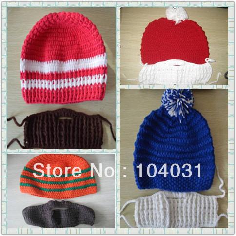 Crochet Pattern For Mens Beanie With Beard : Popular Mens Crochet Beanie Pattern Aliexpress