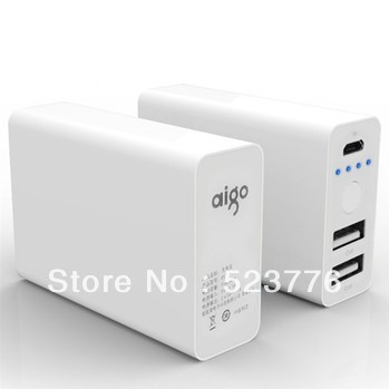 Aigo E5 5180mAh Portable External Battery Pack Backup Power Mobile Power Bank Charger For Samsung HTC Iphone Ipad Tablets(China (Mainland))