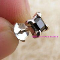 Diamond alondra 925 pure silver stud earring