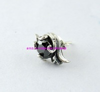 925 pure silver vintage tang grass thai silver stud earring