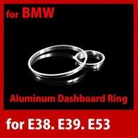 (free shipping)  for BMW E38 E39 E53 Aluminum Cluster Gauge Dashboard Ring