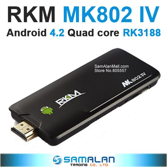 Rikomagic MK802 IV RK3188 Quad Core Android 4.2.2 Mini PC 2G