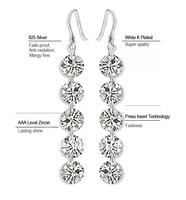2013 New Designer Bride Earrings AAA Level Zircon Tassels Dangle Long Earrings For Women SK081