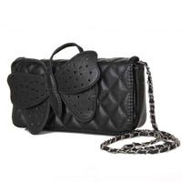 Bags 2014 female bow clutches bag womens plaid chain shoulder bag