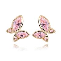 Designer Jewelry Korean Fashion  Flash Drilling Cubic Zircon Stud Earrings 18K Gold Filled  CZ Diamond  Accessories For Women