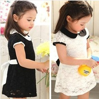 new summer baby children's clothing wholesale kids lace dresses girl leisure fair maiden dress 5ps/lot Free shipping