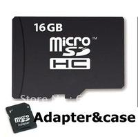100% Genuine real capacity!!!NEW 16GB 16G MICRO SD MicroSD 16 GB SDHC TF Flash MEMORY CARD +CASE+ADAPTER