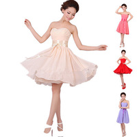 Hot Sale Chiffon Sweetheart A-Line Short Formal Evening Dress 2014 Prom Gown evening dresses Party Dress