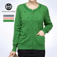 Mother clothing plus size clothing cashmere sweater spring and autumn sweater outerwear Women cardigan sweater