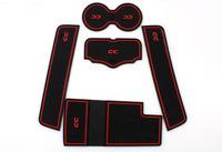 Free Shippig High quality Silica gel Gate slot pad,Teacup pad,Non-slip pad(5 pcs) For 2009-2013 Volkswagen PASSAT CC