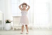 2014 Girls toddler ruffle dress,tie shoulder dresses kids,12M-5 years,AL301