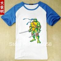 Free shipping! Teenage Mutant Ninja Turtles TMNT boy boys short sleeve white t shirt shirts top tops tee Children's T-shirt