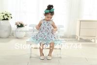 2014 girls toddler brace floral dresses,kids ruffle dress,5pcs/lot,AL101