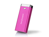 RAVPower New 2014 Luster 6000mAh External Battery Charger Pack with Built-in Flashlight for iPhone 4 4s 5 5s Galaxy - Pink