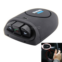 Steering Wheel Car Bluetooth Car Kit Hands-free Speaker Double Voice Bluetooth 3.0 Speakerphone for iPhone Samsung