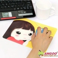 Wholesale 3pcs/lot Lovely girl mouse pad mouse mat  computer mouse pad Computer peripheral gifts free shipping
