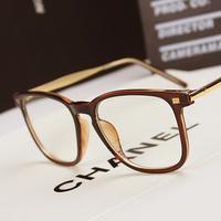 free shipping Trend vintage plain kar eyeglasses frame fashion metal big frame glasses frame