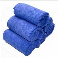 New Microfiber Car Household Strong Absorption Super Soft Towel Clean Cloth Blue Towel