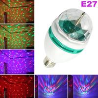 Hot sale ! 3W Full Color Roating LED Stage Light Lamp RGB LED Lighting 85-265V Free Fedex ! 50pcs/lot!
