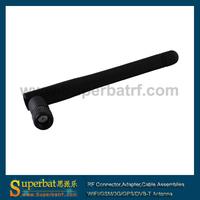 2pcs 5.8GHz 3dBi Omni WIFI Antenna RP-SMA for wireless router black