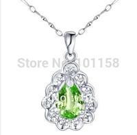 Wholesale Korean Fashionsterling silver 925  jewelry, peridot necklace pendants, SP0245P