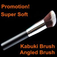 Professional Black Synthetic Hair Angled Kabuki Brush Makeup Brushes Tools Cosmetics Make Up Brush Powder & Foundation Brush