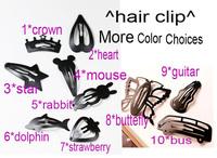 cartoon black simple hair clips hairpins Accessories decor Lady girl's wholesale retail