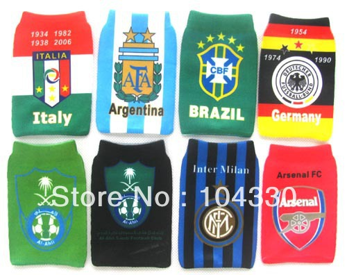 Wholesale - LOT 12 pcs Soccer Club Design Pattern Cell Mobile Phone Socks Mp3/MP4 Case Gift(China (Mainland))