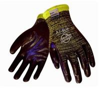 10 Gauge Black  Nitrile palm coated cut resistant gloves oil resistant and abrasion resistant work safety gloves 12312