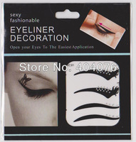 120 pair Black Color Series Vintage Temporary Tattoo Eye Liners Sticker  Smoky Eyes Shadow Eyeliner #228