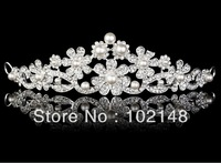 Free Shipping!! Fashion Bridal  Tiaras  wedding accessories silver plated rhinestone tiaras
